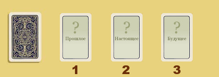 три карты таро на чувства